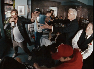 "Danny McBride, Ted Danson, Seth Rogen and Elijah Wood in ""Fight for Your Right (Revisited)"""