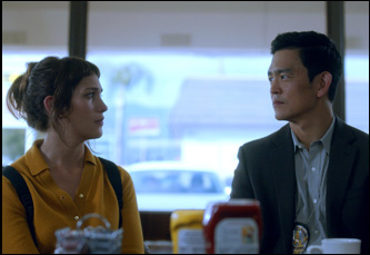 "Lola Kirke and John Cho in ""Gemini"""