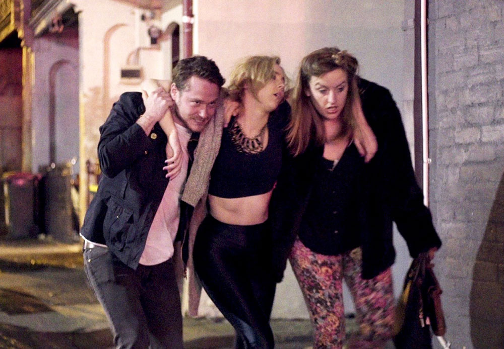 "Marshall Campbell, Julia Robertson and Sarah Gaul in ""Hot Mess"""