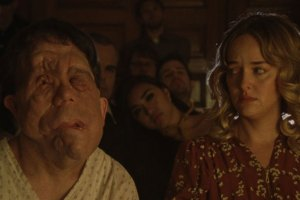 "Adam Pearson and Jess Weixler in ""Chained for Life"""