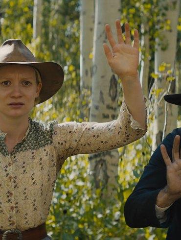 """Mia Wasikowska and David Zellner in """"Damsel"""""""