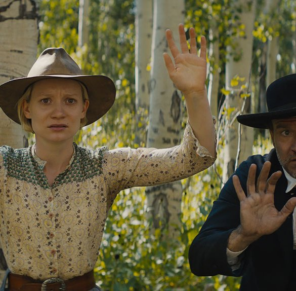 "Mia Wasikowska and David Zellner in ""Damsel"""