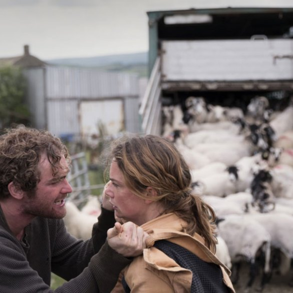 """Mark Stanley and Ruth Wilson in """"Dark River"""""""