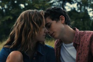 "Maika Monroe and Timothee Chalamet in ""Hot Summer Nights"""