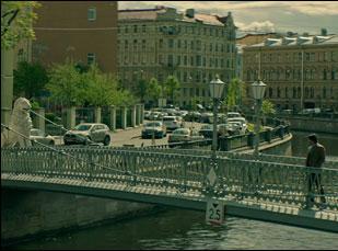 """Ana Ularu and Keanu Reeves in """"Siberia"""""""