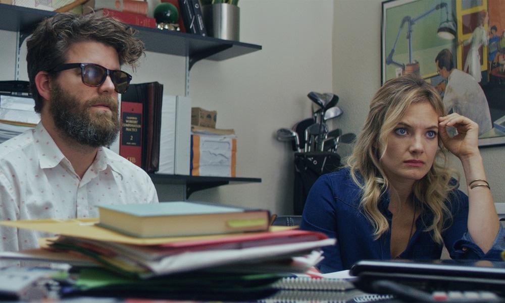 "Scott Rodgers and Kristin Slaysman in ""Dr. Brinks & Dr. Brinks"""