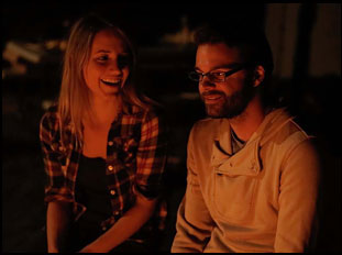 "Rebecca Weaver and Justin Pahnturat in ""June Falling Down"""