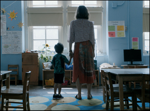 "Parker Sevak and Maggie Gyllenhaal in ""The Kindergarten Teacher"""