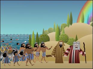 "A scene from Nina Paley's ""Seder-Masochism"""