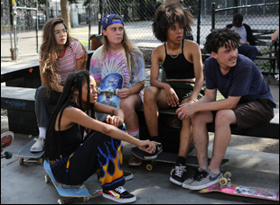 "A scene from Crystal Mozelle's ""Skate Kitchen"""