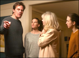 """Michael Shannon, Hilary Swank, Blythe Danner and Taissa Farmiga in """"What They Had"""""""