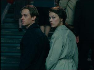 """Paula Beers and Tom Schilling in """"Never Look Away"""""""