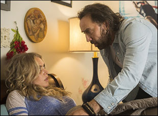 """Nicolas Cage and Penelope Mitchell in """"Between Worlds"""""""