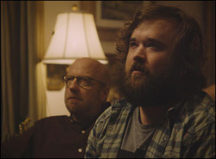 "Chris Elliott and Haley Joel Osment in ""Clara's Ghost"""