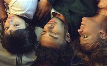 "Betsy Holt, Rafael Villegas and Tallie Medel in ""Jules of Light and Dark"""