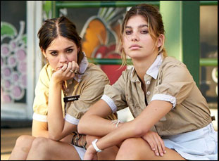 """Camilla Morrone and Maia Mitchell in """"Never Goin' Back"""""""