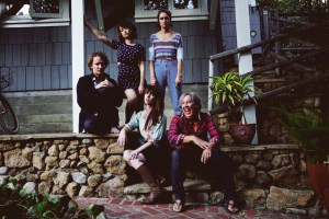 "Breeda Wool, Milana Vayntrub, Sam Littlefield, Kestrin Pantera and Melanie Hutsell in ""Mother's Little Helpers"""