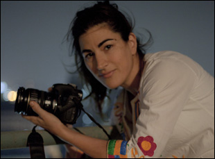"Jehane Noujaim filming ""The Square"""
