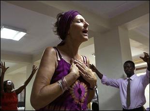 "Jo Anna Watson in a scene from Roger Ross Williams' ""God Loves Uganda"""