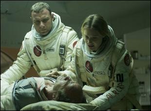 "Romola Garai, Liev Schreiber and Elias Koteas in ""The Last Days on Mars"""