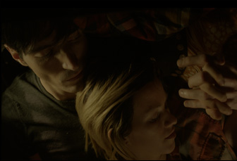 "Kim Shaw and David Dastmalchian in ""Animals"""