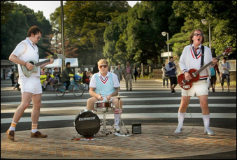 "David Drury, Philip A. Peterson and Sean Lowry as Tennis Pro in ""Big in Japan"""