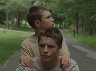 "Ryan Jones and Nathan Varnson in ""Hide Your Smiling Faces"""
