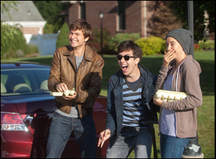 """Ansel Elgort, Shailene Woodley and Nat Wolff in """"The Fault in Our Stars"""""""