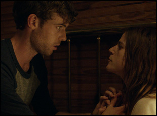"Harry Treadaway and Rose Leslie in ""Honeymoon"""