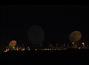 GCHQ satellites in Bude, England. Photo by Trevor Paglen.