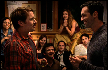 "Reid Scott and Beck Bennett in ""Beside Still Waters"""