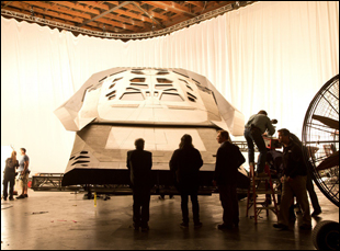 "The spaceship in Christopher Nolan's ""Interstellar"""