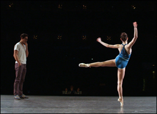 "Justin Peck at the City Ballet in ""Ballet 422"""