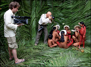 "Juliano Ribeiro Salgado filming his father Sebastiao Salgado in ""Salt of the Earth"""