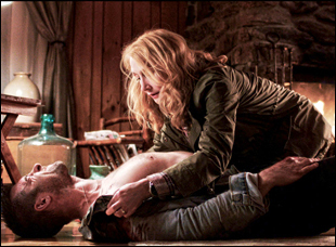 """Scott Speedman and Patricia Clarkson in """"October Gale"""""""