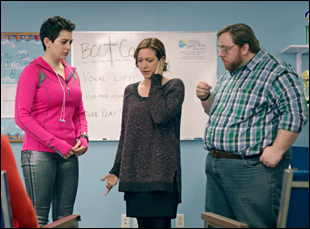 """Brittany Snow, Aral Gribble and Maisie Klompus in """"Dial-a-Prayer"""""""