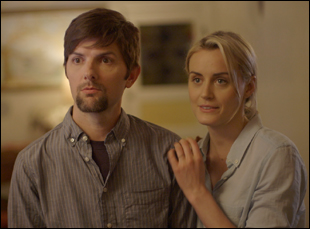 "Adam Scott and Taylor Schilling in ""The Overnight"""