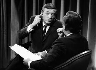 "William F. Buckley and Gore Vidal in ""Best of Enemies"""