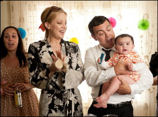 "Wendi McClendon-Covey and Joe Lo Truglio in ""The Breakup Girl"""