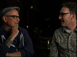 """Bobcat Goldthwait and Tom Kenny in """"Call Me Lucky"""""""