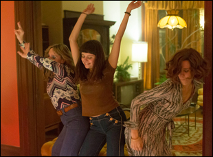 "Bel Powley, Kristen Wiig and Madeleine Waters in ""Diary of a Teenage Girl"""