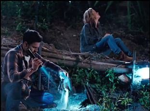 """Jake Johnson and Brie Larson in """"Digging for Fire"""""""