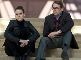 """Alice Eve and Matthew Broderick in """"Dirty Weekend"""""""