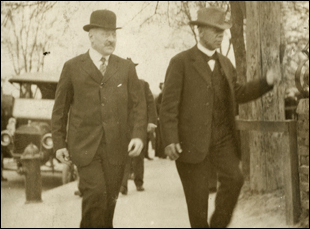 "Julius Rosenwald and Booker T. Washington in ""Rosenwald"""