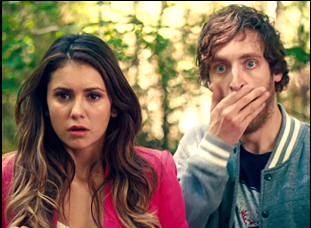 "Nina Dobrev and Thomas Middleditch in ""The Final Girls"""