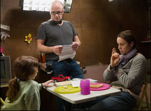 "Lenny Abrahamson, Jacob Tremblay and Brie Larson in ""Room"""