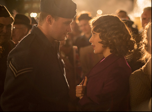 "Jack Reynor and Sarah Gadon in ""A Royal Night Out"""