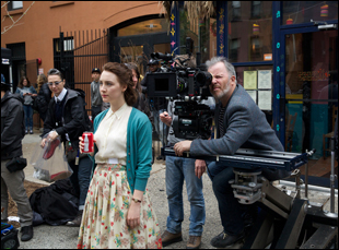 "Yves Belanger on the set of ""Brooklyn"""