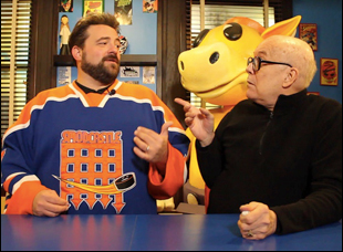 "Bob Hawk and Kevin Smith in ""Film Hawk"""