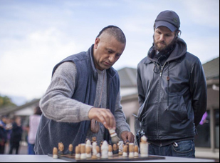 """James Napier Robertson and Cliff Curtis in """"The Dark Horse"""""""